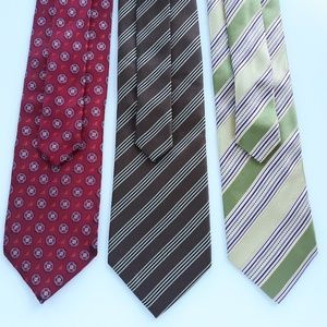 Lot 3 X Ermenegildo Zegna Mens Neckties